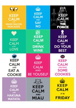 12 squares - Frosty Sheets Keep Calm - Bake&FUN