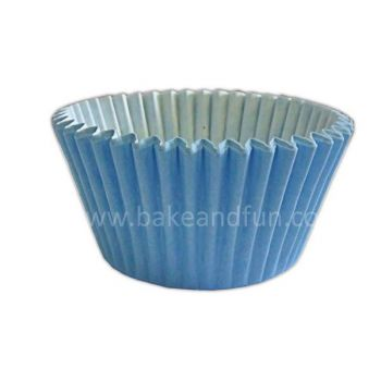 50 Solid cupcakes cases 5,1cmx3,8cm - BABY BLUE - Bake&FUN