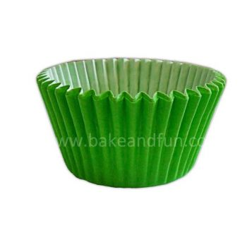 50 Solid cupcakes cases 5,1cmx3,8cm - LIME - Bake&FUN