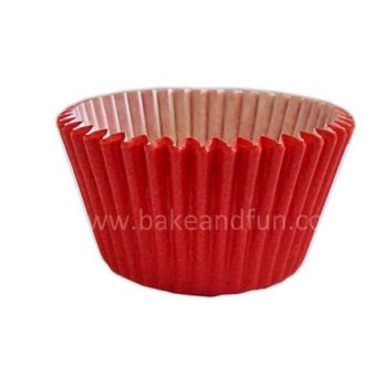 50 Solid cupcakes cases 5,1cmx3,8cm - RED - Bake&FUN