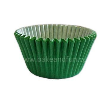 50 Solid cupcakes cases 5,1x3,8cm - GREEN. - Bake&FUN