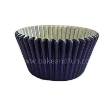 50 Solid cupcakes cases 5,1x3,8cm - NAVY BLUE - Bake&FUN