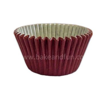 50 Solid cupcakes cases - Burgundy - Bake&FUN