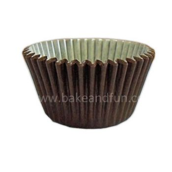 Solid Chocolate cupcakes cases - 5,1cmx3,8cm . 50pcs - Bake&FUN