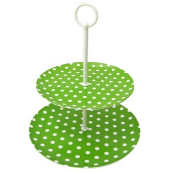 Cupcake Stand - Polka Dots - Green - Home Collection