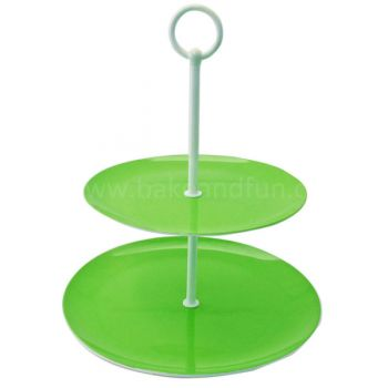 Soporte para Cupcakes - Dos Niveles - Verde - Home Collection