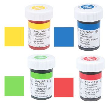 Set 4 Basic Icing colors Wilton - Wilton