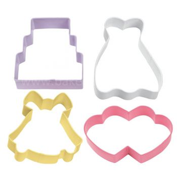 Set 4 Cookie cutters - Wedding - Wilton